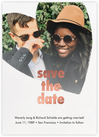 Filippa - White - Paperless Post - Gold and metallic save the dates