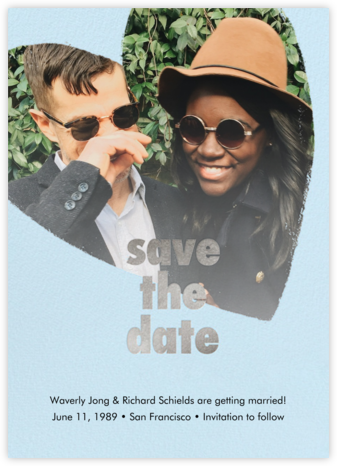 Filippa - Glacier - Paperless Post - Modern save the dates