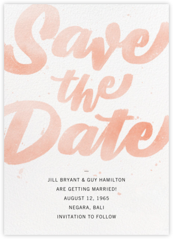 Rosa - Paperless Post - Modern save the dates