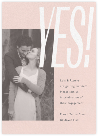 Lina - Meringue - Paperless Post - Engagement party invitations