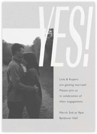 Lina - Winter Gray - Paperless Post - Engagement party invitations