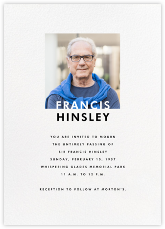Square Photo on Tall (Invitation) - Paperless Post - Invitations