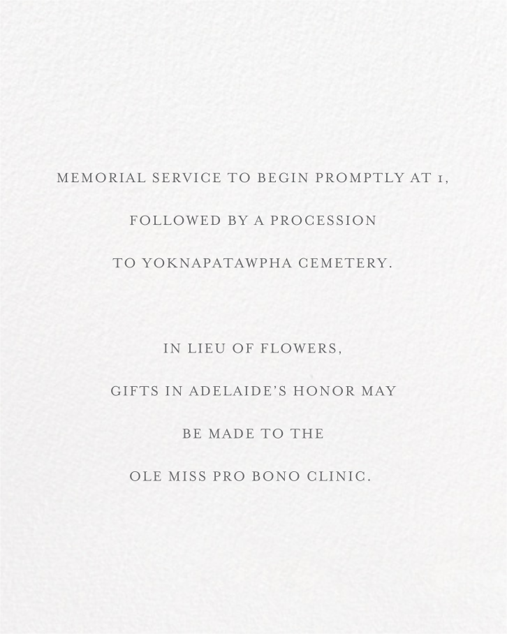 Square Frame - Tall (Gray) - Paperless Post - Memorial service - insert front
