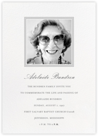 Square Frame - Tall (Gray) - Paperless Post - Invitations