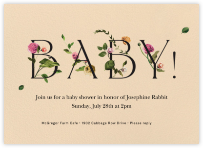 Bambino - Bellini - Venamour - Online Baby Shower Invitations