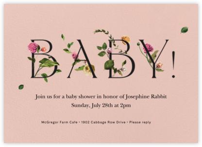 Bambino - Pavlova - Venamour - Baby shower invitations