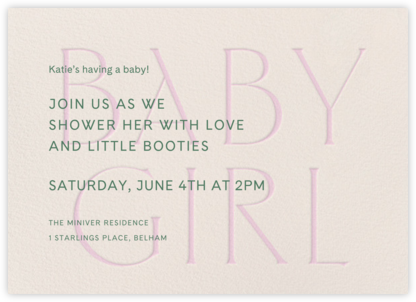 Piccolo - Cream - Venamour - Baby Shower Invitations