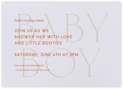 Piccolo - Lilac - Venamour - Baby Shower Invitations