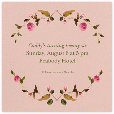 Cortile (Square) - Venamour - Adult Birthday Invitations