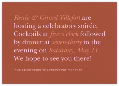 Recitativo - Carob - Venamour - Dinner Party Invitations