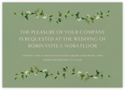 Cadenza (Invitation) - Palm - Venamour - Venamour wedding