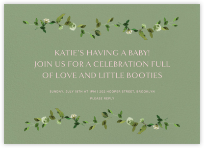 Cadenza - Palm - Venamour - Baby Shower Invitations