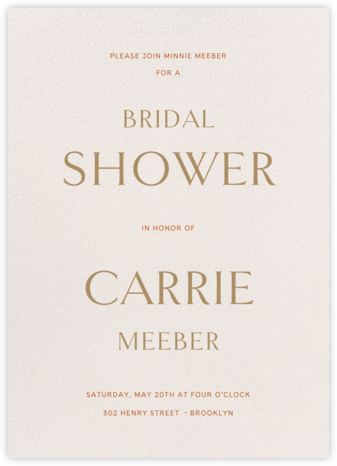 Sempre - Cream - Venamour - Bridal shower invitations