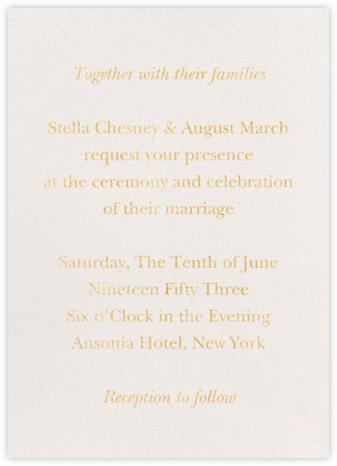 Verismo (Invitation) - Cream - Venamour - Venamour wedding