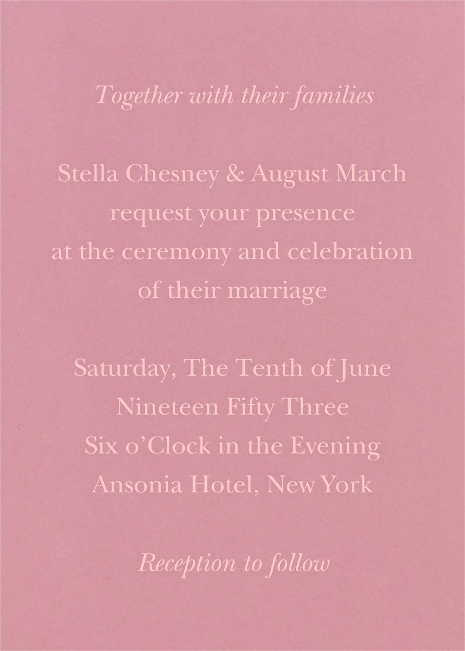 Verismo (Invitation) - Macaron - Venamour - Venamour wedding