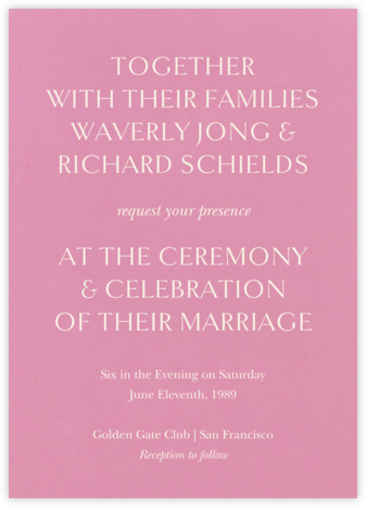Oratorio (Invitation) - Mauve - Venamour - Wedding Invitations
