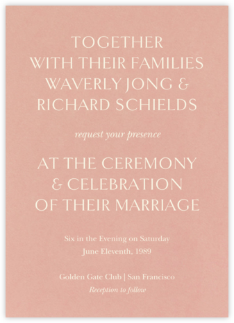 Oratorio (Invitation) - Chamois - Venamour - Venamour wedding