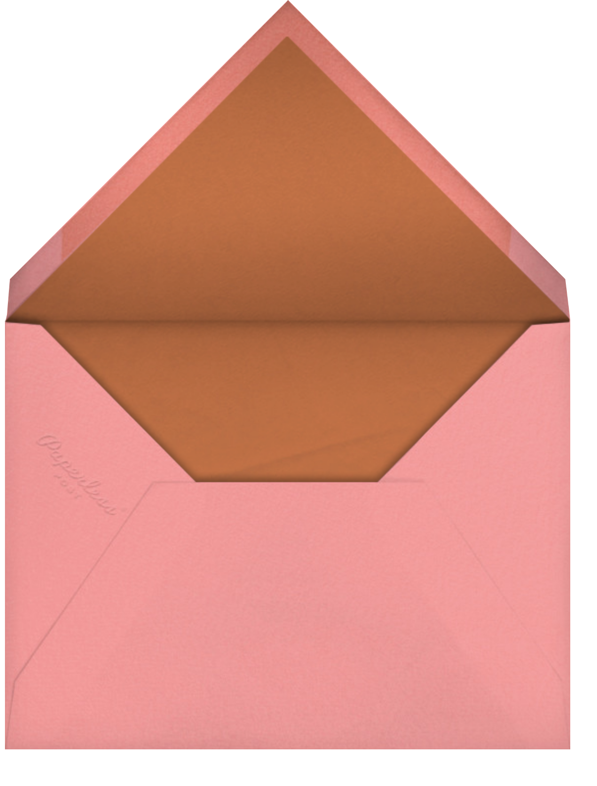 Oratorio (Invitation) - Carob - Venamour - All - envelope back