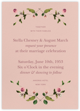 Cortile (Invitation) - Venamour - Wedding Invitations