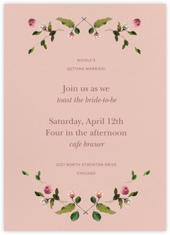 Cortile - Venamour - Bridal shower invitations