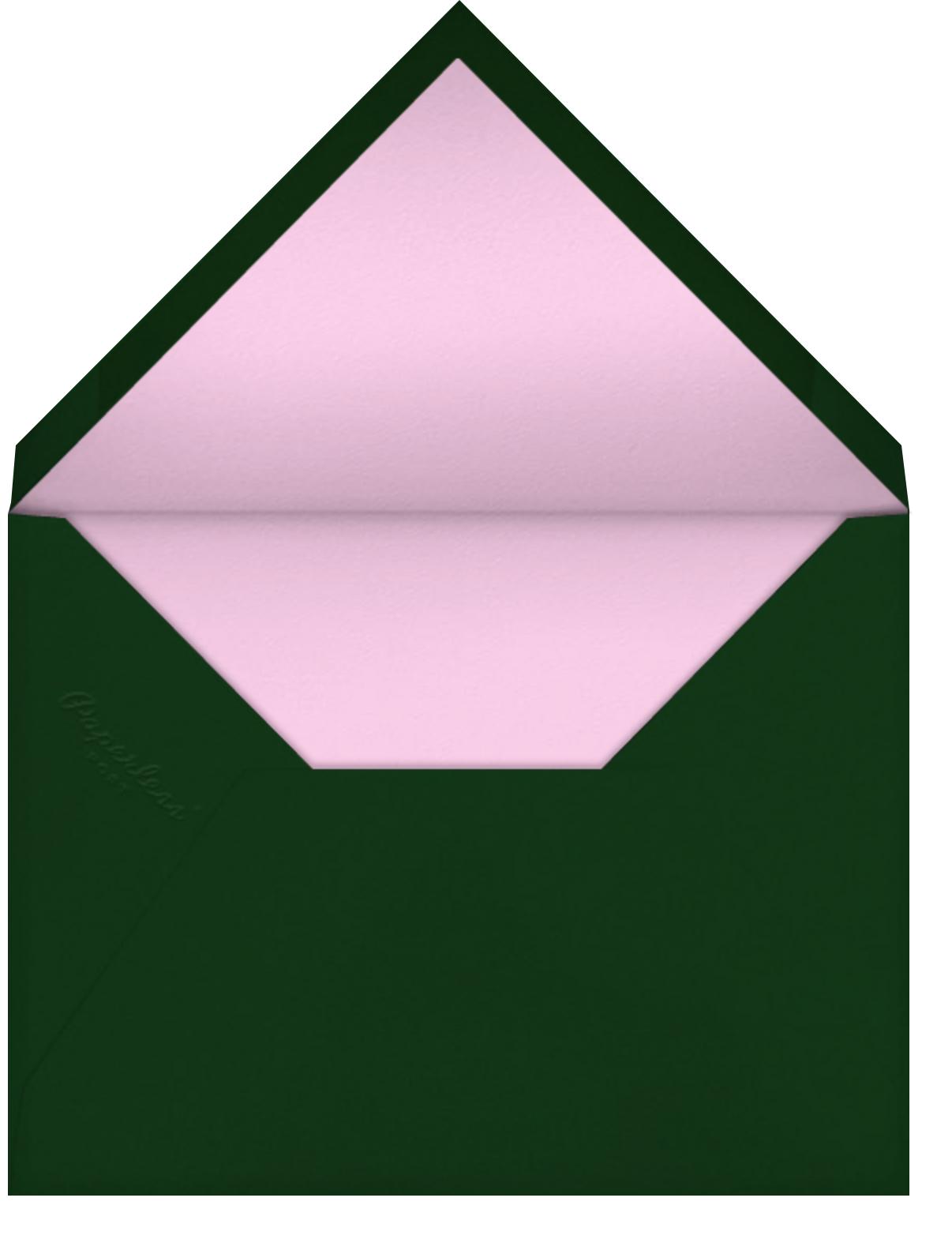 Semplici - Carnation - Venamour - Save the date - envelope back