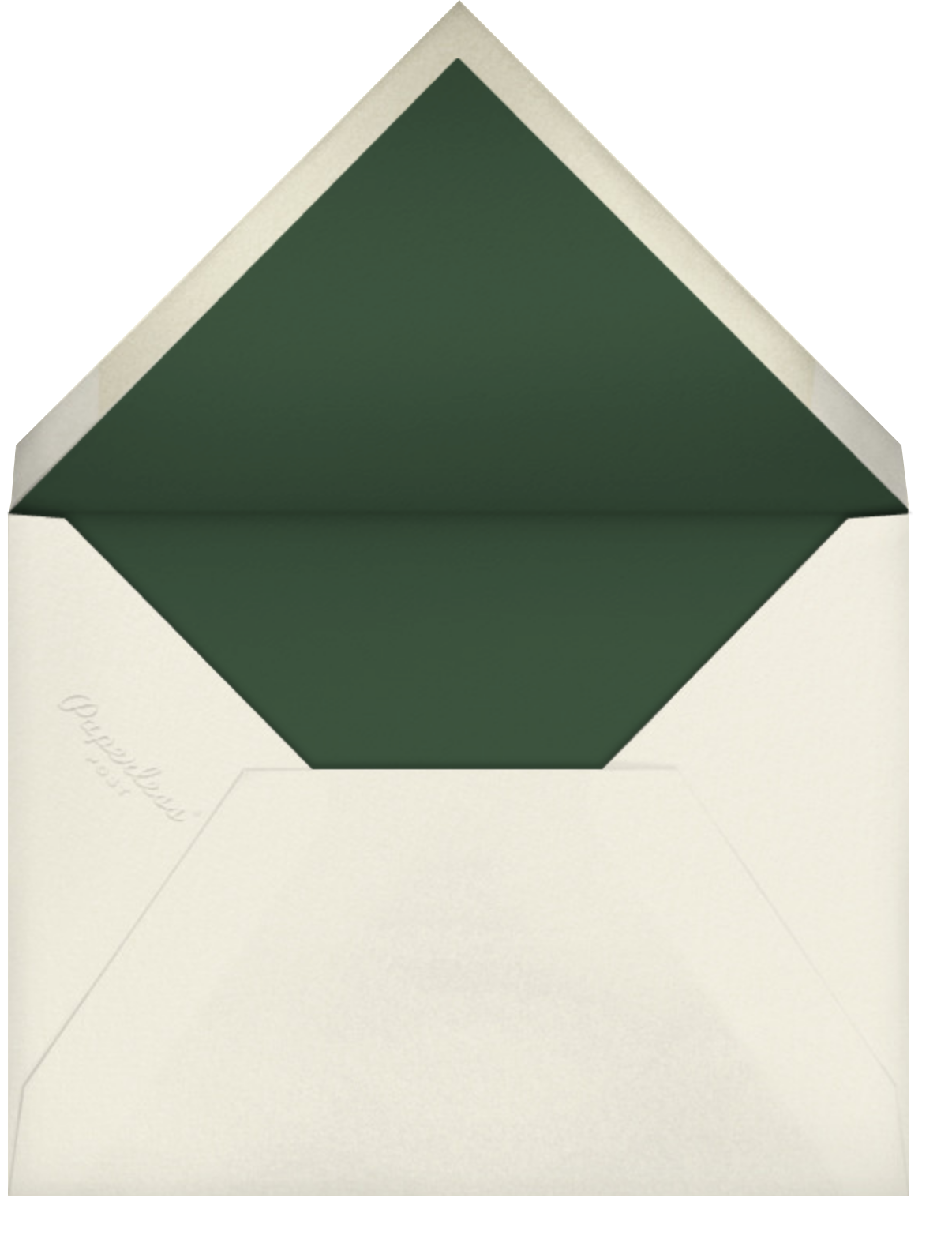 Selvatico - Hunter Green - Venamour - Save the date - envelope back