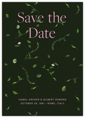 Selvatico - Hunter Green - Venamour - Save the dates