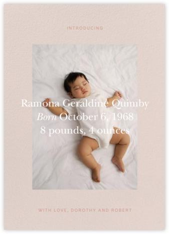 Cuore - Antique Pink - Venamour - Birth Announcements