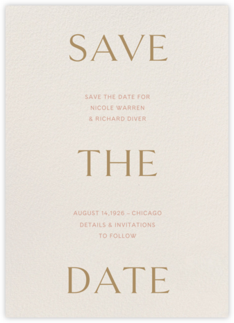 Primo (Save the Date) - Cream - Venamour - Venamour wedding