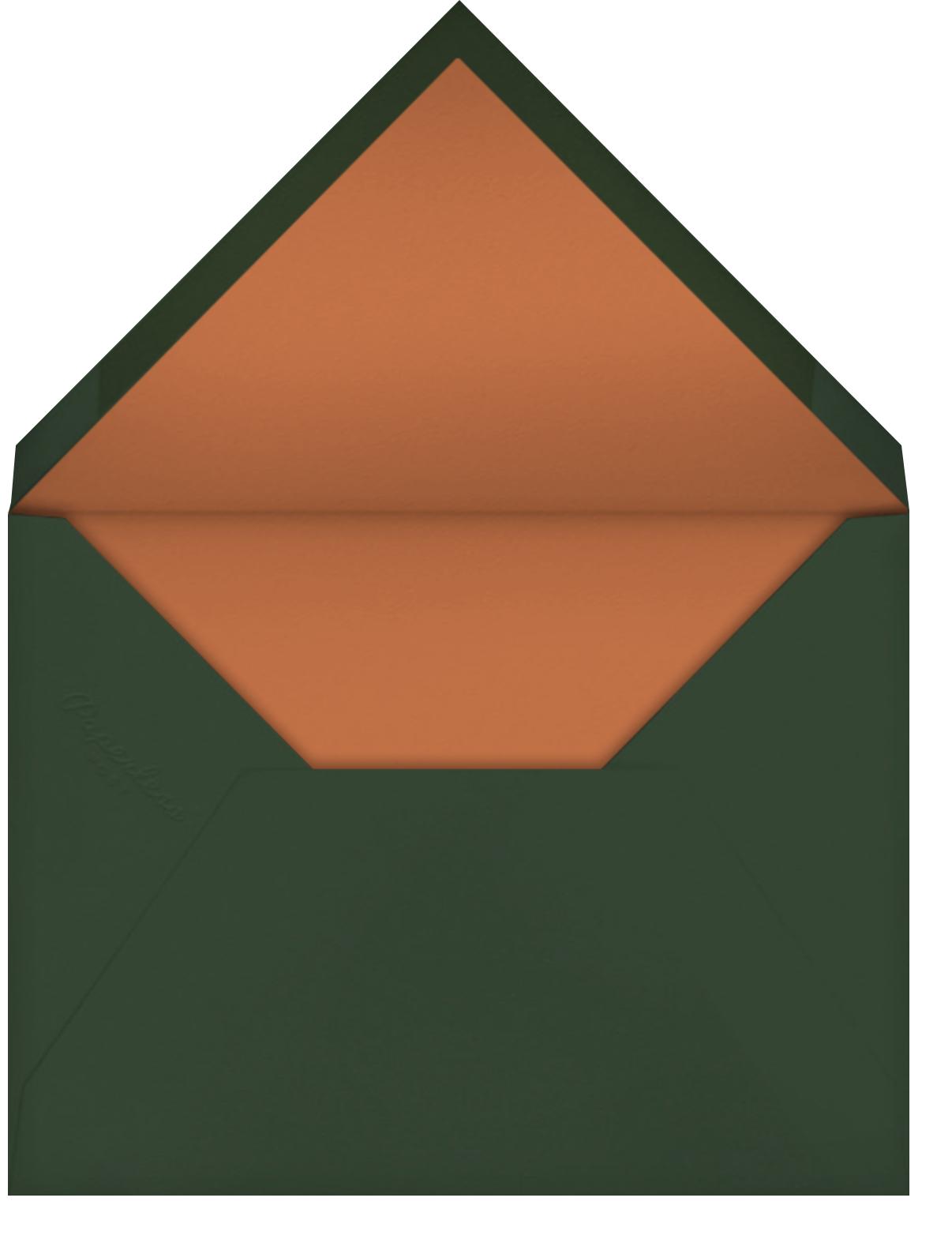Recitativo - Burnt Caramel - Venamour - Dinner party - envelope back