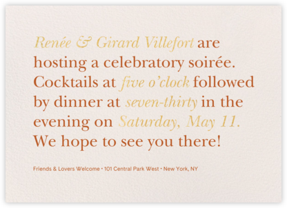 Recitativo - Cream - Venamour - Autumn entertaining invitations