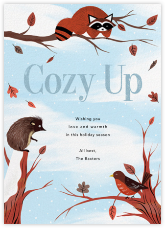 Cozy Critters - Paperless Post - Holiday Cards