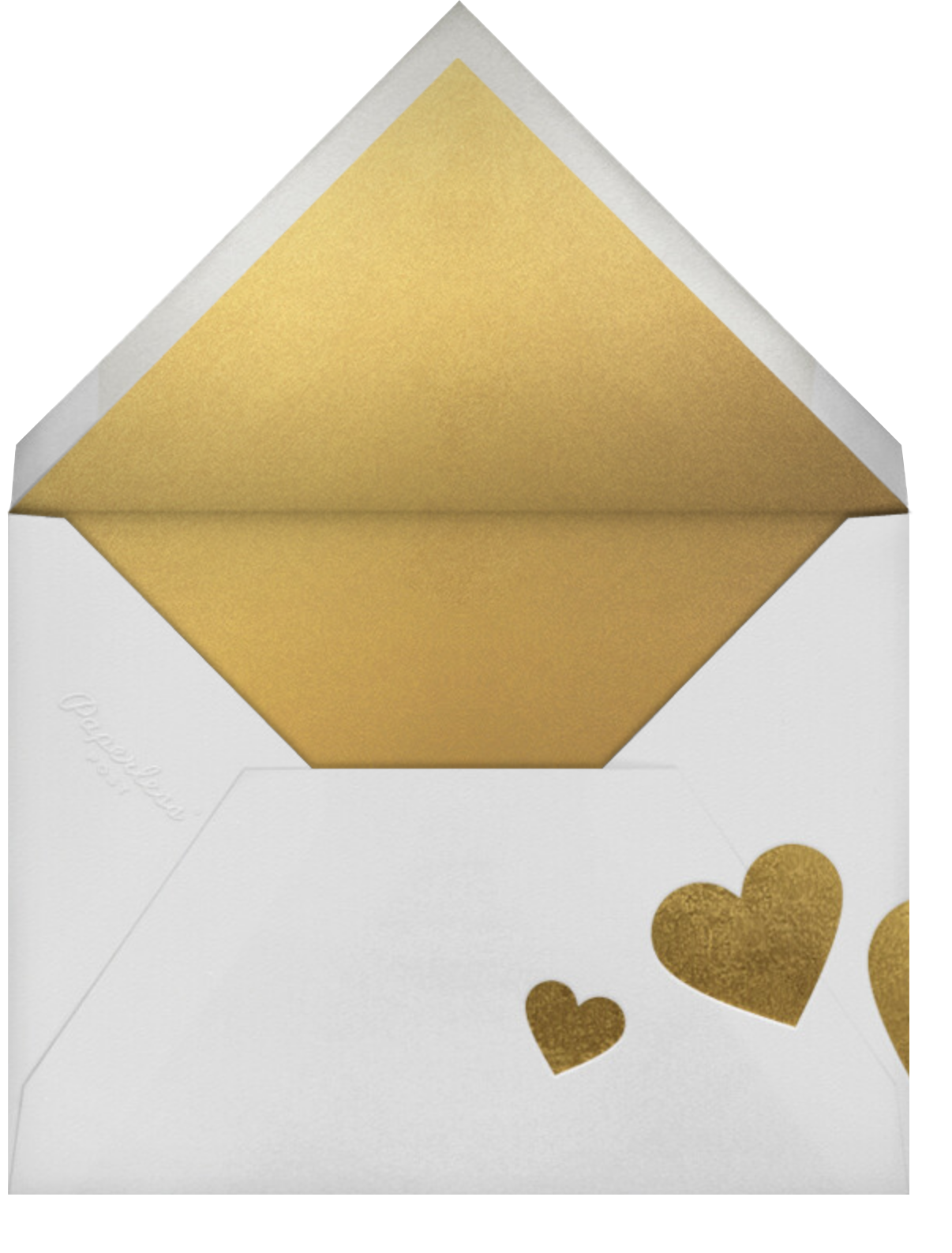 Snapshot - Gold Kiss - Paperless Post - Valentine's Day - envelope back