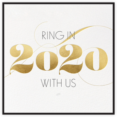 Ring in 2019 - Gold - bluepoolroad - New Year's Eve Invitations