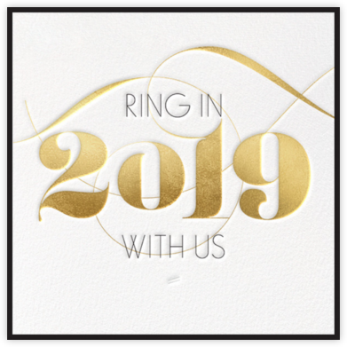 Ring in 2019 - Gold - bluepoolroad - New Year's Eve