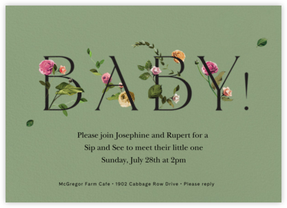 Bambino - Palm - Venamour - Sip and see invitations
