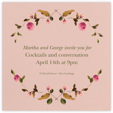 Cortile (Square) - Venamour - Dinner Party Invitations