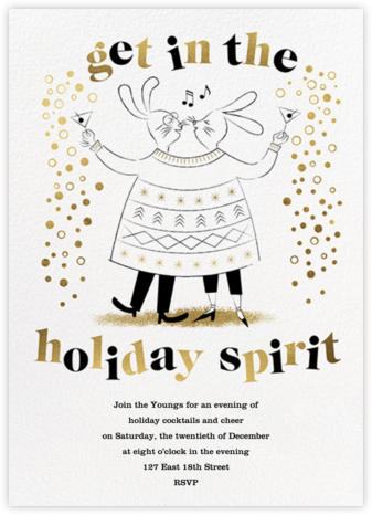 Sweater Twinset - His/Hers - Paperless Post - Holiday invitations
