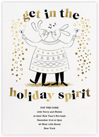 Sweater Twinset - His/His - Paperless Post - New Year's Eve Invitations