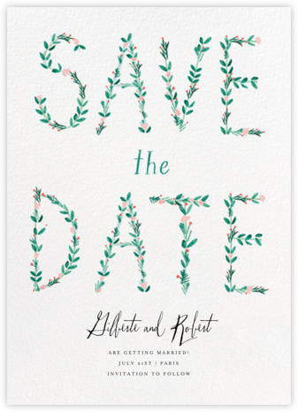 Say it with Flowers - Mr. Boddington's Studio - Save the dates