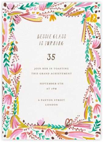Primrose Path - Mr. Boddington's Studio - Adult Birthday Invitations