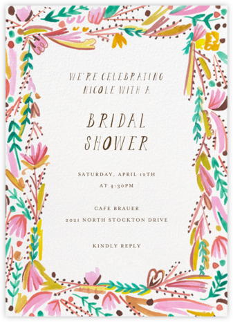 Primrose Path - Mr. Boddington's Studio - Bridal shower invitations