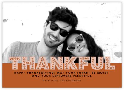 Thankful Photo - Pumpkin - Paperless Post -