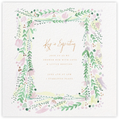 Oh Printemps - Mr. Boddington's Studio - Baby Shower Invitations