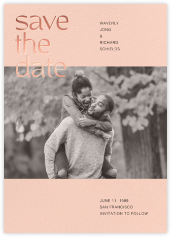 Tilly - Meringue - Paperless Post - Photo save the dates