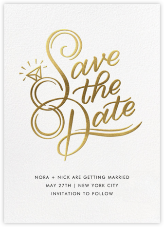 The Ringer - Paperless Post - Gold and metallic save the dates