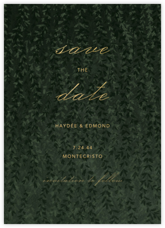Ivalace - Paperless Post - Gold and metallic save the dates