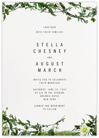 Chincoteague Vine - Paperless Post - Online Wedding Invitations