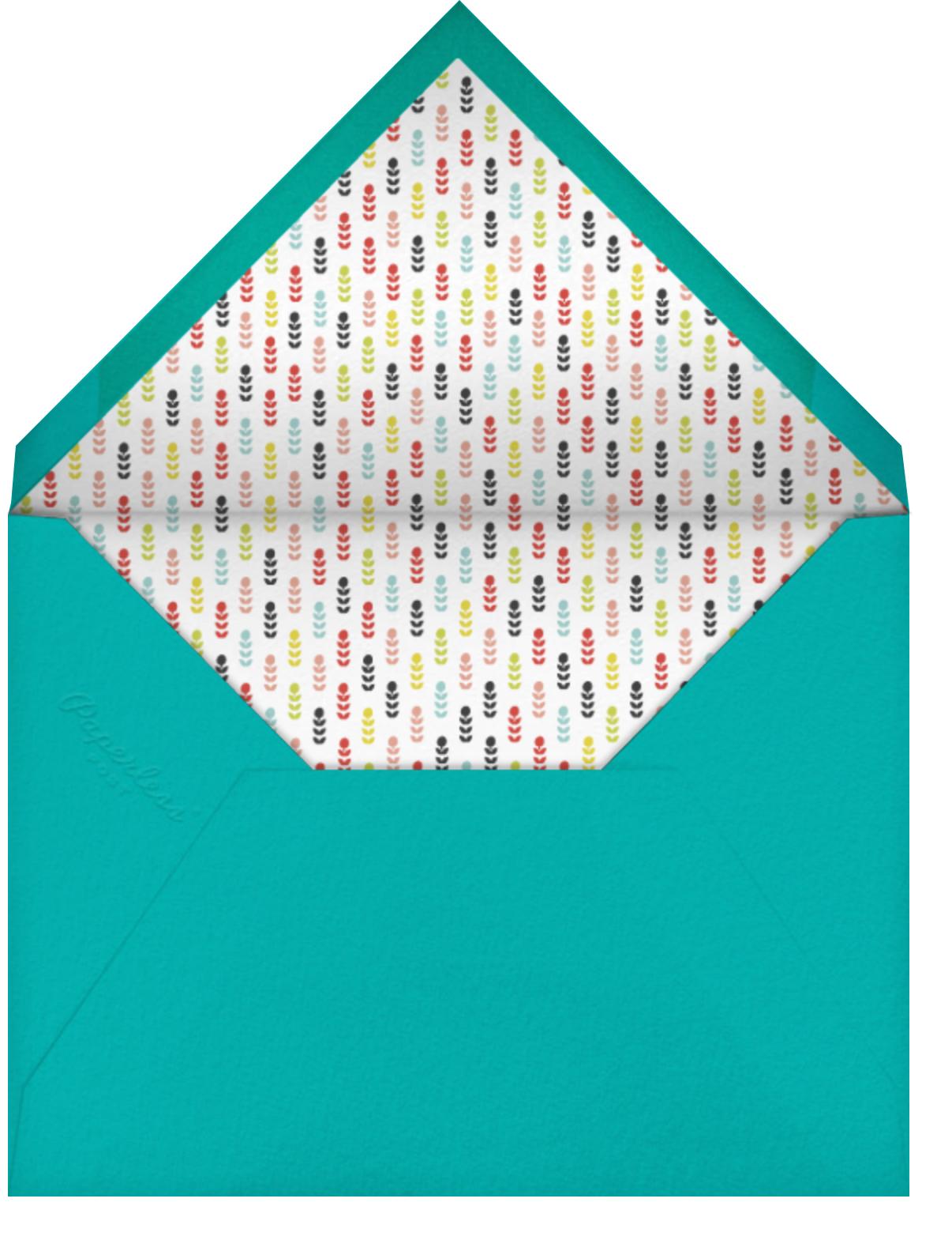 Tromping through a Meadow - Mr. Boddington's Studio - Baby shower - envelope back