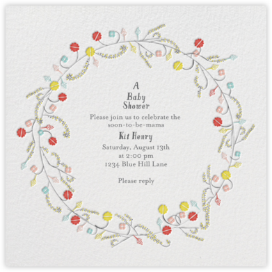 Tromping through a Meadow - Mr. Boddington's Studio - Baby Shower Invitations